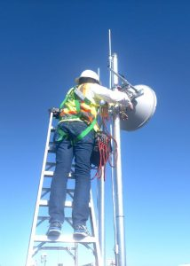 Dr. Dave on a Wireless Tower